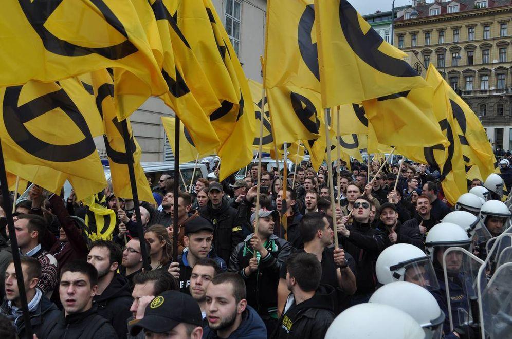 Foto: Manifestación de Movimiento Identitario por Europa en Viena, mayo de 2014 (Foto: Web de Identitäre Bewegung)