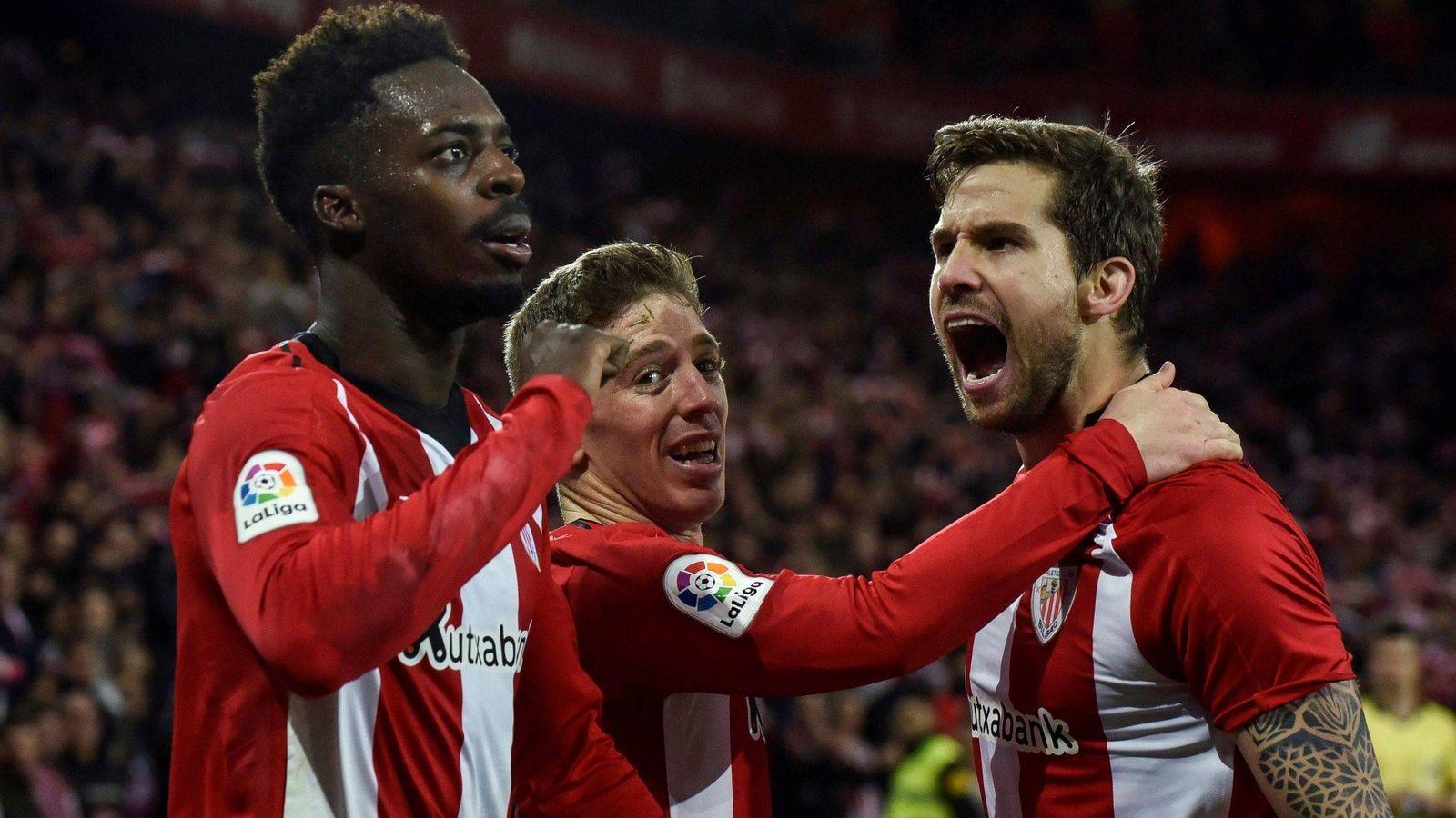 Foto: Jugadores del Athletic de Bilbao celebran un gol. (EFE)
