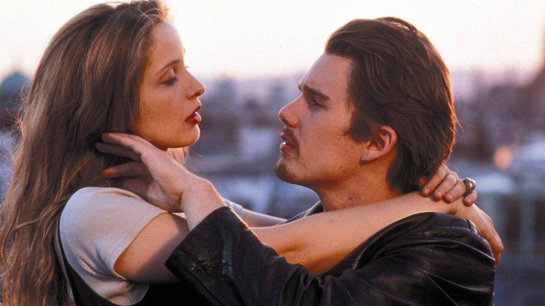 Foto: Ethan Hawke y Julie Delpy en 'Antes del amanecer'.