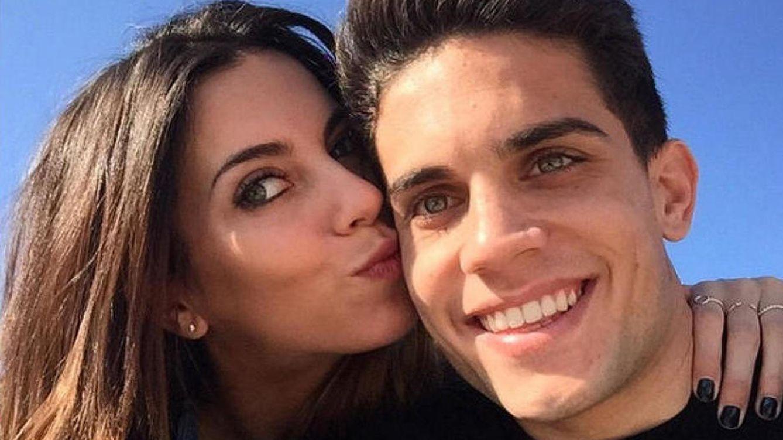 Foto: Melissa Jiménez y Marc Bartra, en una imagen de archivo