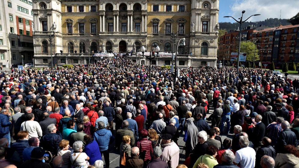 Foto: Manifestación de pensionistas en Bilbao.