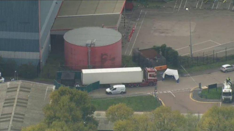 Foto: El camión donde se han encontrado los 39 cadáveres en Essex. (Atlas)