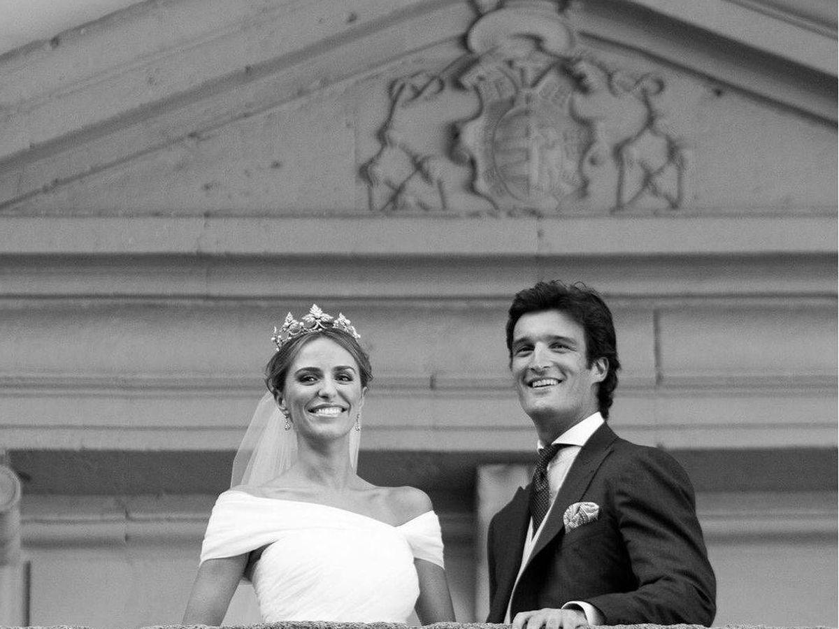 Foto: Laura Vecino y Rafa Medina el día de su boda. (IG)