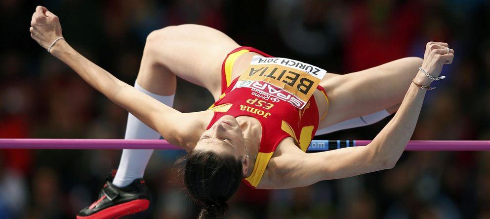 Foto: Ruth Beitia, en la ronda de clasificación en Zúrich (Reuters).