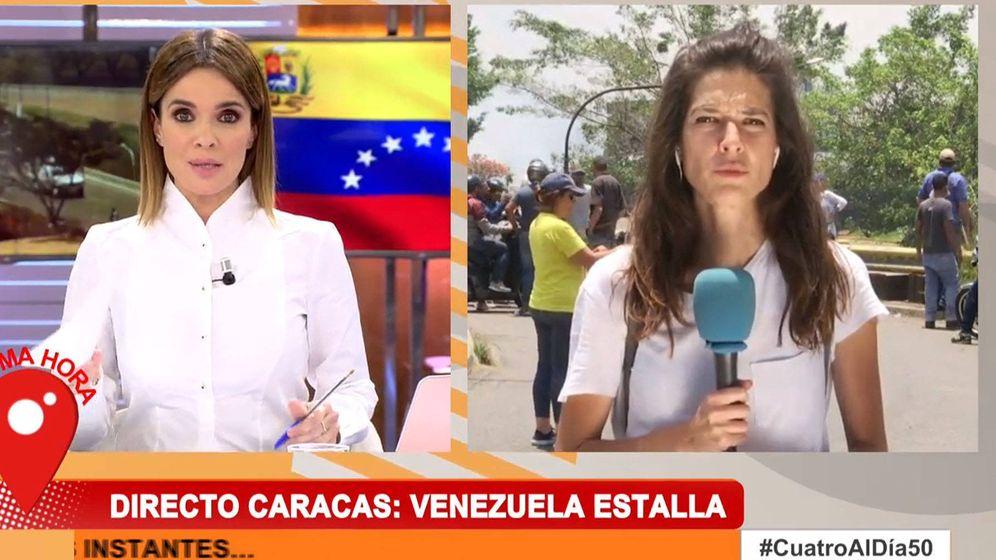 Foto: Carme Chaparro y Esther Yáñez, en 'Cuatro al día'. (Cuatro)