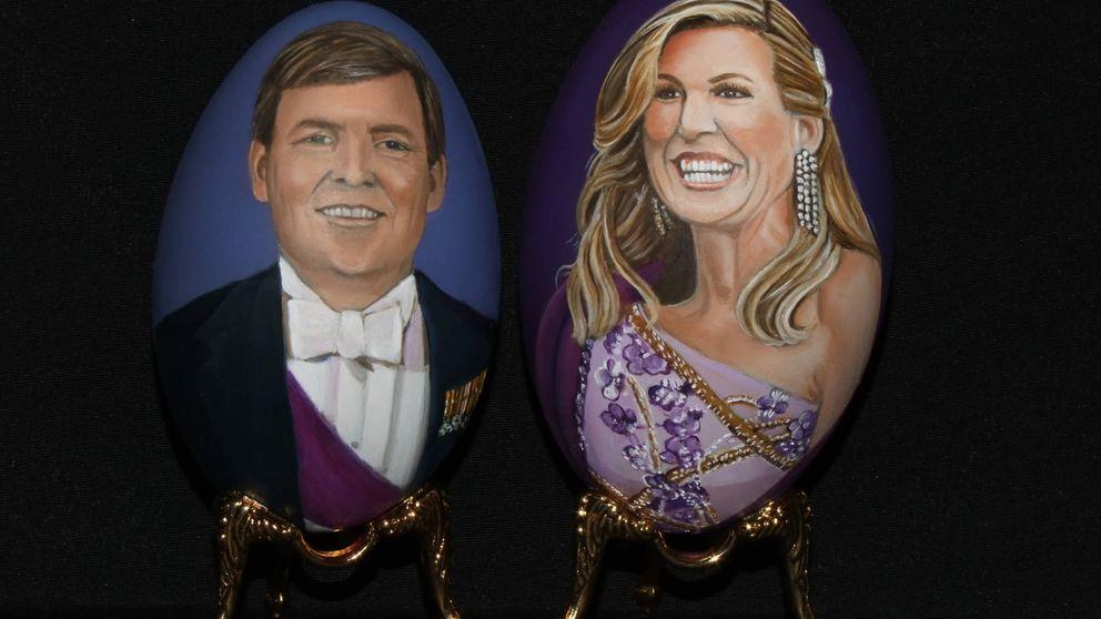 Los divertidos retratos de Máxima y Guillermo de Holanda en huevos de Pascua