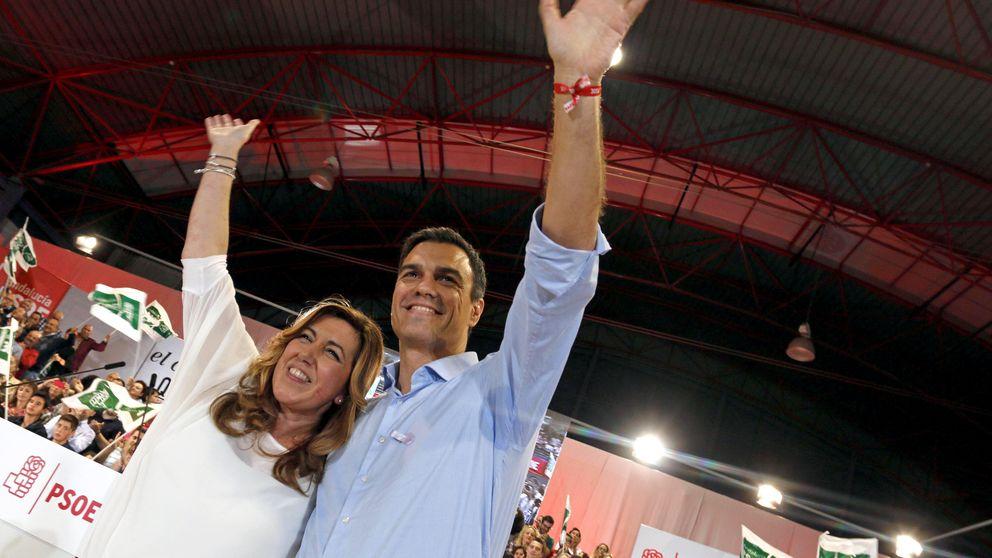 Pedro Sánchez y Susana Díaz se cuidan de prodigarse cariño a las puertas del 20-D
