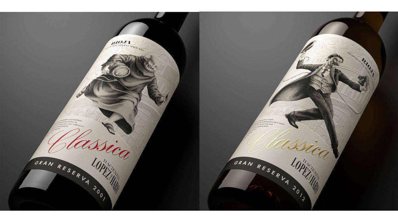 Foto: Imagen de los dos vinos de la colección, tinto y blanco.