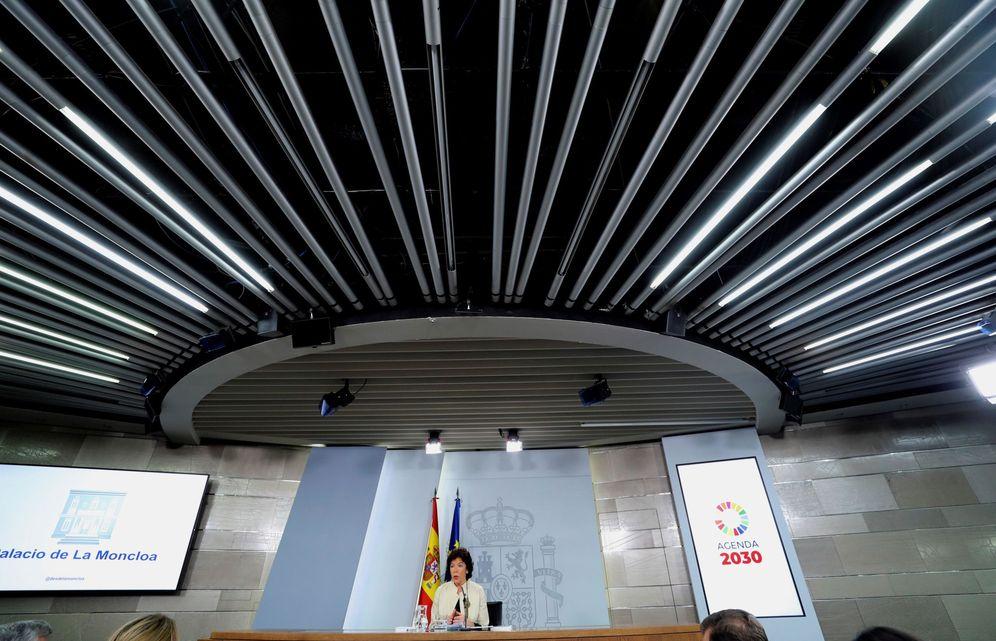 Foto: La ministra portavoz en funciones, Isabel Celaá, este 12 de julio en la Moncloa. (EFE)