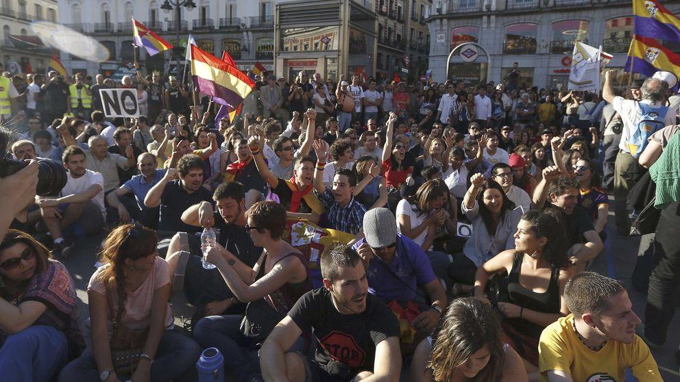 Las manifestaciones caen a los niveles previos a la victoria de Rajoy