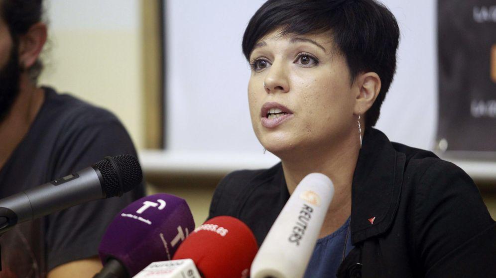 Foto: Beatriz Talegón, el 26 de octubre de 2015 en Madrid, cuando se postuló como candidata a La Moncloa por la lista X La Izquierda. (EFE)