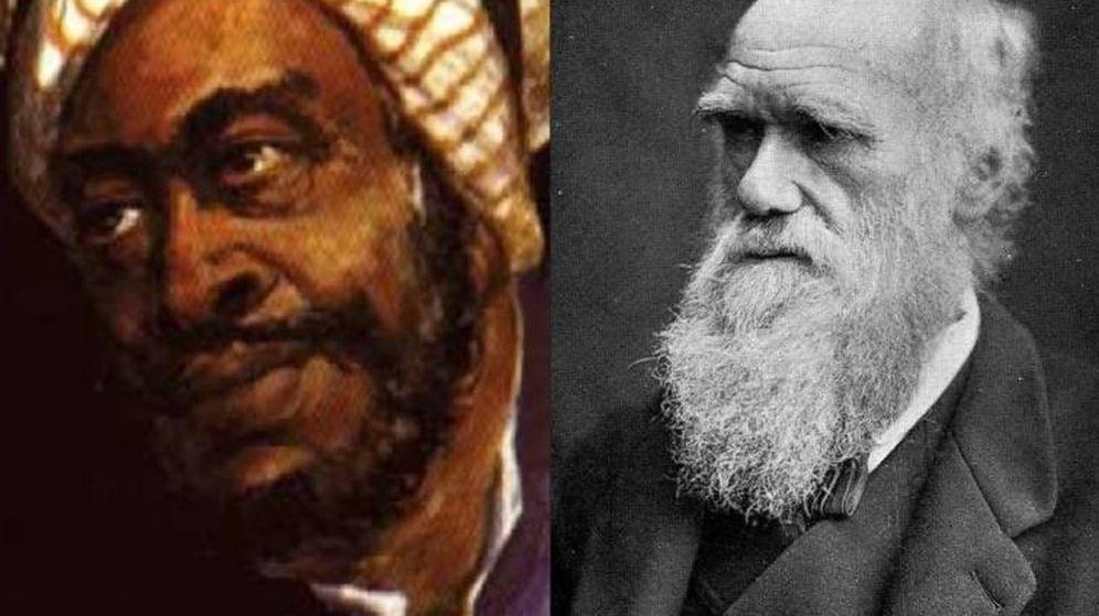 Foto: Al-Jahiz y Charles Darwin (EC)