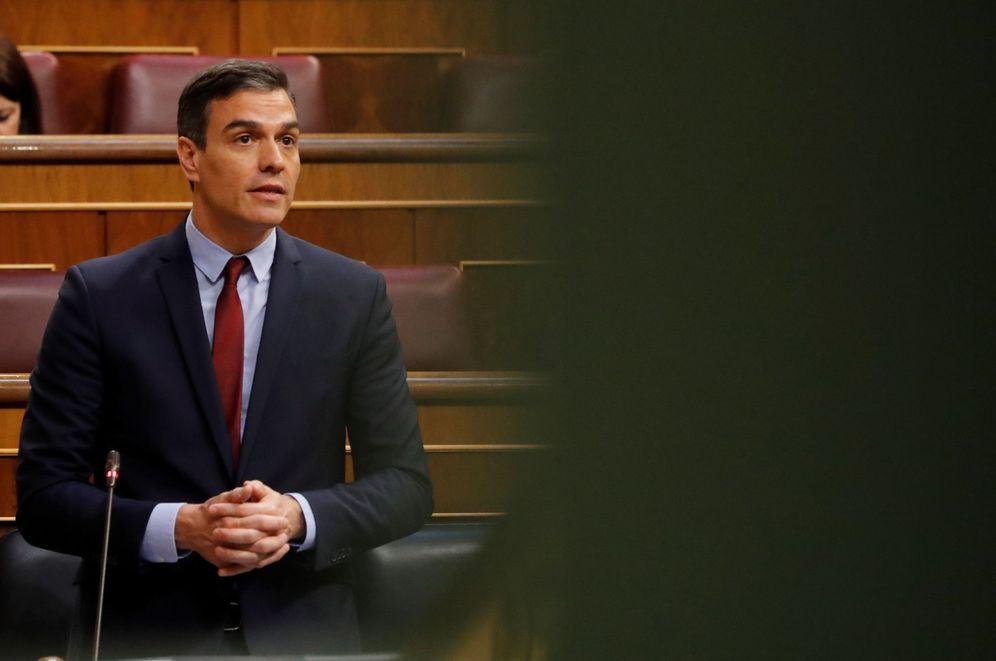 Foto: El presidente, Pedro Sánchez, este 20 de mayo en el Congreso. (EFE)