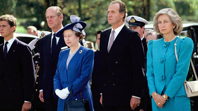 Visita de Estado de Isabel II y el duque de Edimburgo a España en 1988. (Getty)