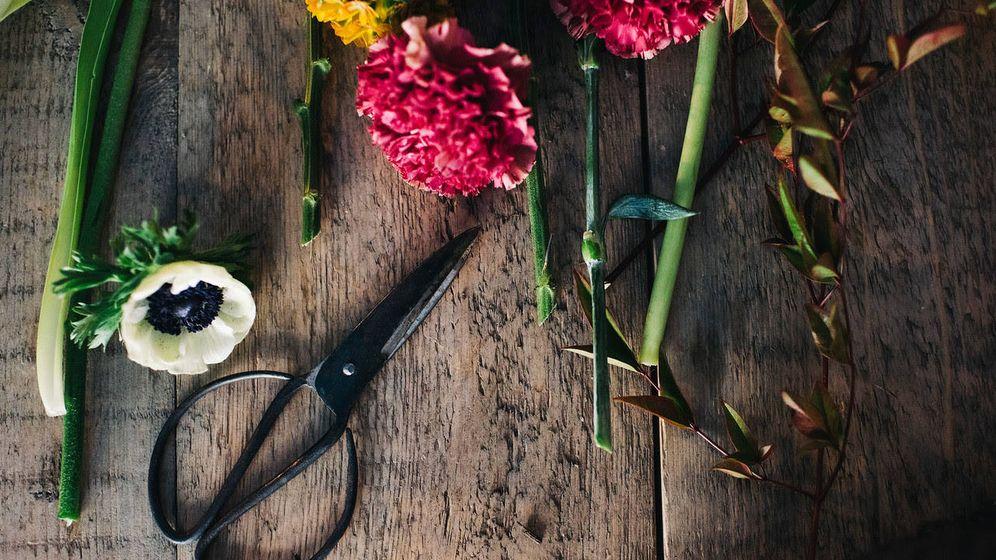 Foto: Los talleres de flores de Sally Hambleton. (Ornella Binni/Lucía Marcano)