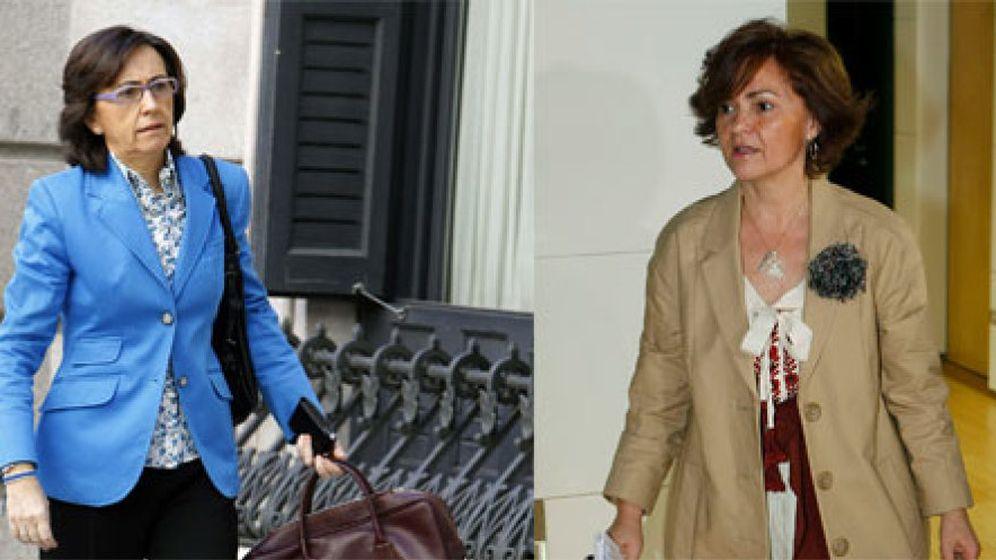 Foto: Carmen Calvo versus Rosa Aguilar: demasiado fuego para el Califato