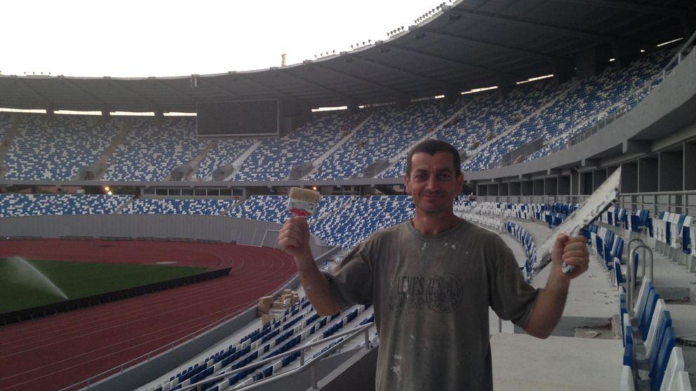 Mano de chapa y pintura al estadio donde se jugará la Supercopa de Europa