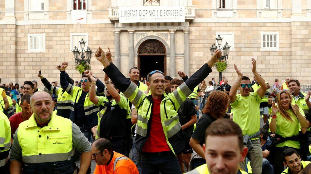 Foto: Las marchas sobre Barcelona salvan la cara a una huelga ni mayoritaria ni 'de país'. (Reuters)