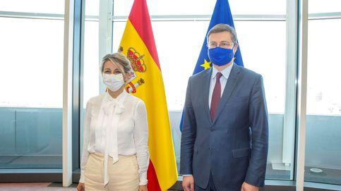 """Díaz celebra la """"acogida favorable"""" de Bruselas a la reforma laboral"""