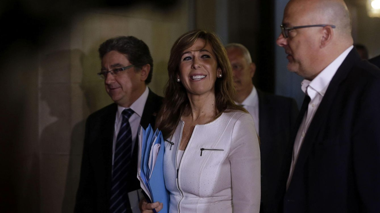 Foto: Sánchez-Camacho a su llegada esta mañana al Parlament (EFE)