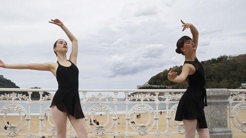Ballet en la playa de La Concha
