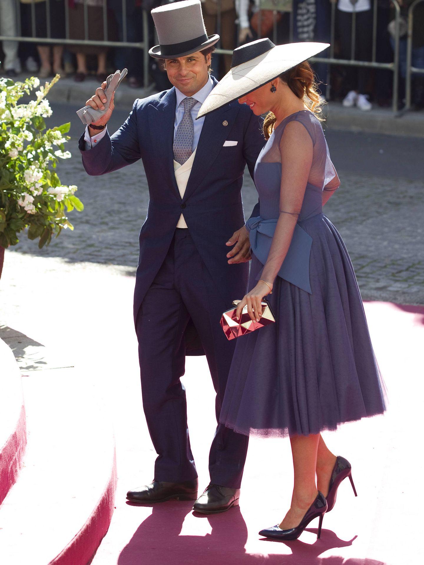 Francisco y Lourdes en la boda de Eva y Cayetano. (Getty)