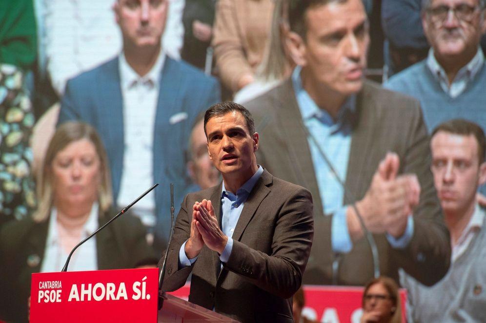 Foto: Pedro Sánchez, este 29 de octubre en Santander. (EFE)