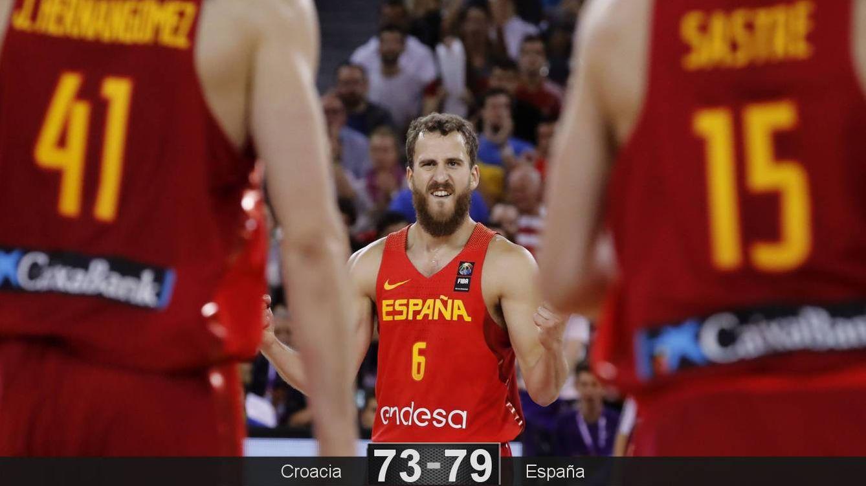 Foto: Sergio Rodríguez fue decisivo con 9 puntos en el último cuarto. (EFE)