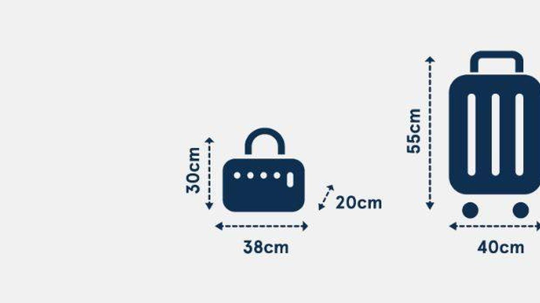 Dimensiones máximas de los equipajes que se pueden subir a la cabina de un avión de Norwegian
