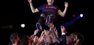 Post de A Andrés Iniesta no le hacía falta tanto ruido para despedirse entre lágrimas