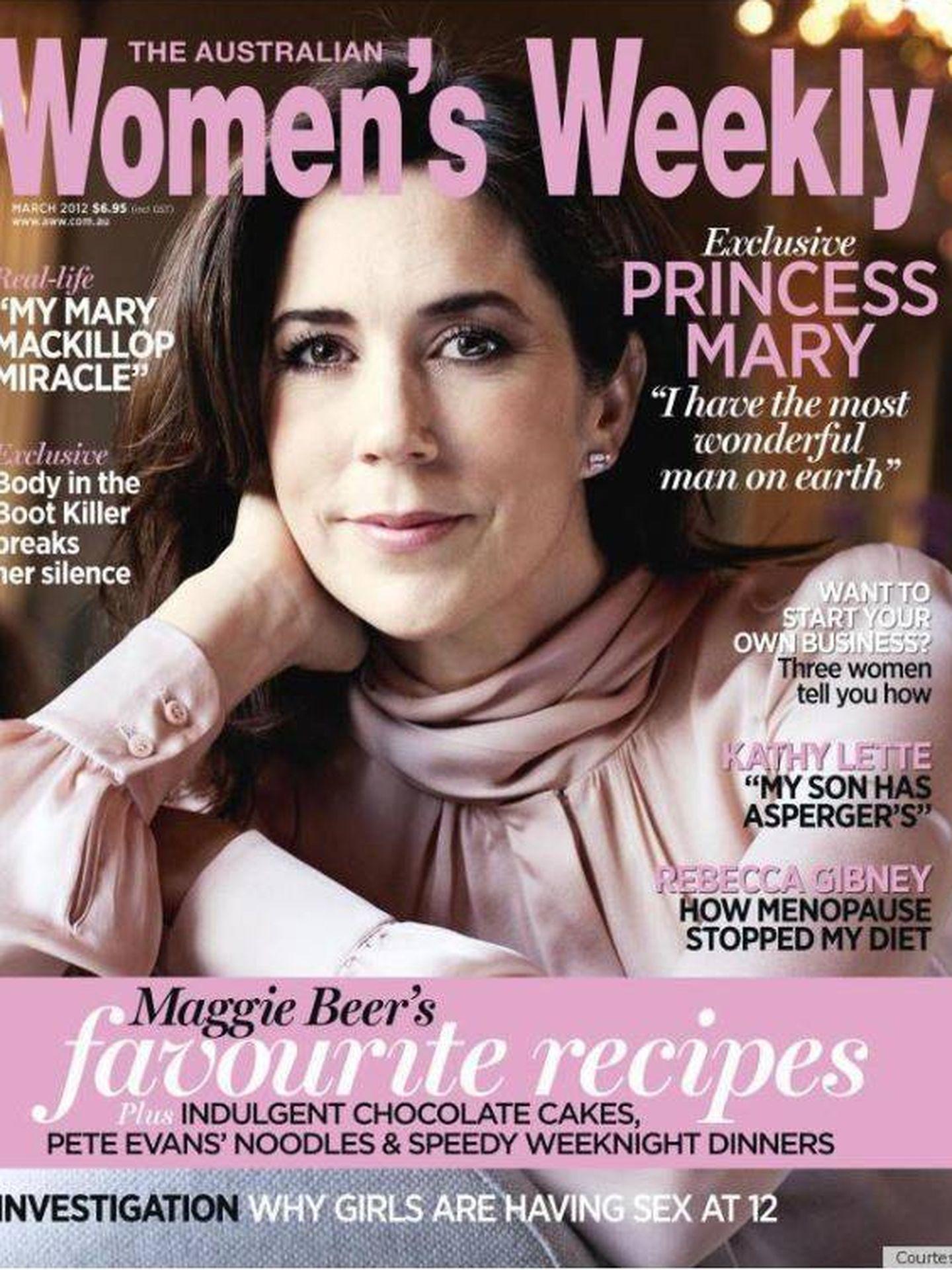 Portada de 'Women´s Weekly', en marzo de 2012.