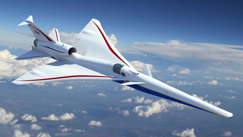 El avión supersónico silencioso X-59a (Lockheed Martin)