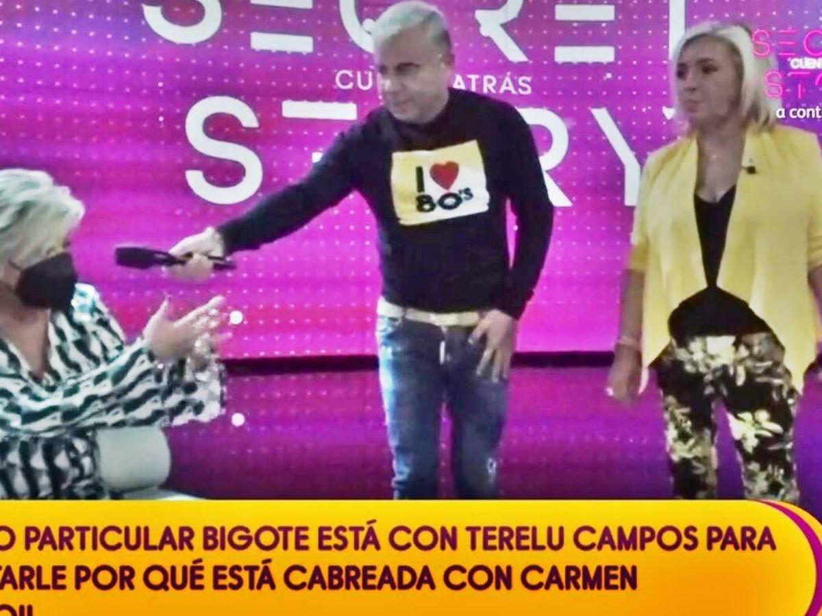Foto: Terelu Campos, Jorge Javier y Carmen Borrego. (Mediaset España)