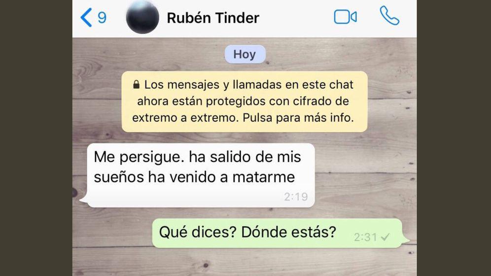 Foto: El mensaje de Rubén que ha hecho saltar todas las alarmas (Foto: Twitter)