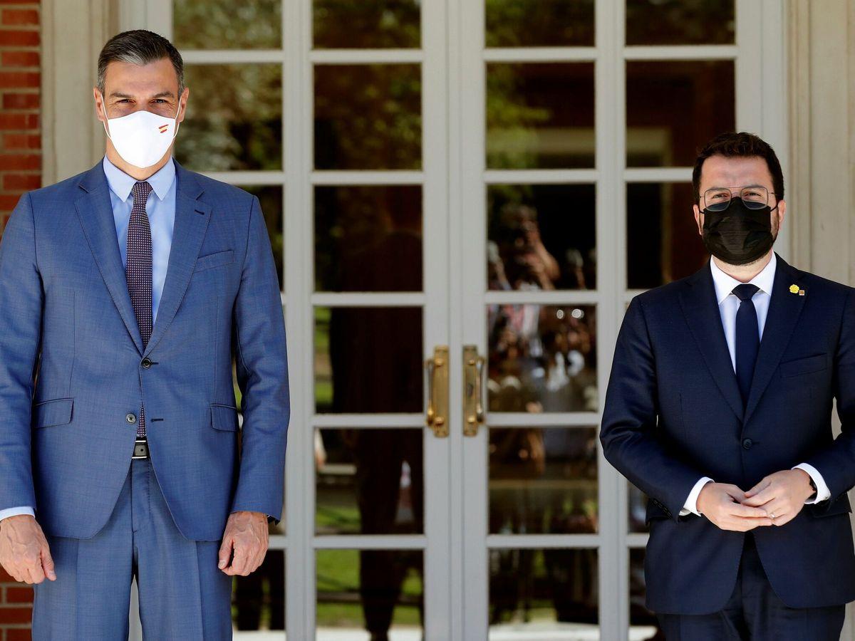 Foto: Pedro Sánchez, y el presidente de la Generalitat, Pere Aragonès. (EFE)