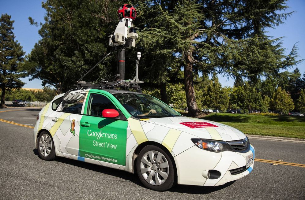 Foto: Uno de los coches medidores de contaminación. (Google Street View)