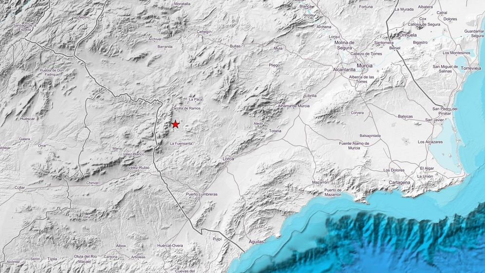 Foto: Terremoto cerca de Zarcilla de Ramos. (IGN)