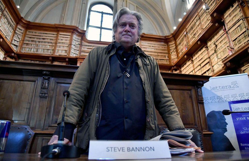 Foto: Steve Bannon, en su visita a Roma. (EFE)