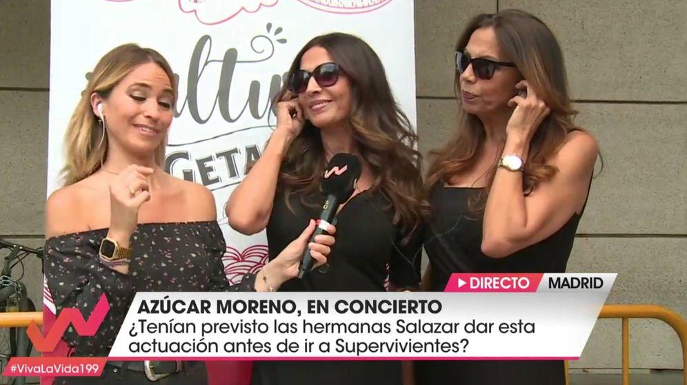 Foto: Las Azúcar Moreno reaparecen en Telecinco. (Mediaset)
