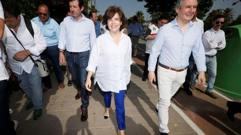 Soraya Sáenz de Santamaría, el sábado, en su visita a Alicante. (EFE)
