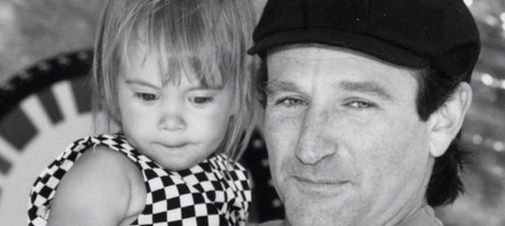 Foto: Robin Williams y su hija Zelda (Instagram)