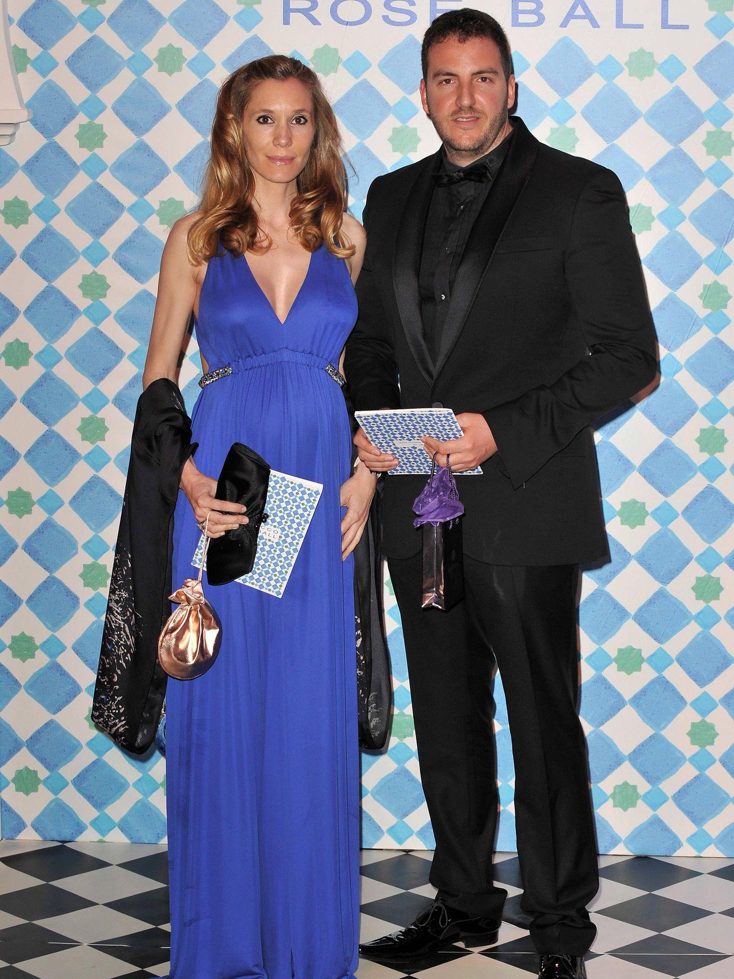 Borja Thyssen y Blanca Cuesta en el Baile de la Rosa de 2010. (Getty)