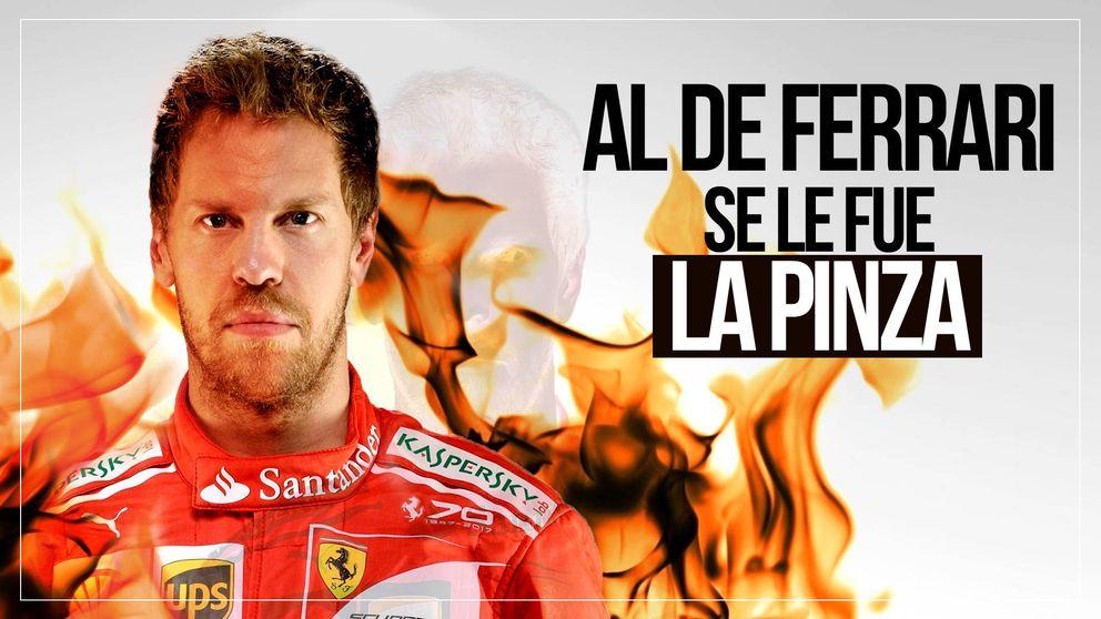 Cuando Vettel, un tetracampeón del mundo, se pone como un energúmeno al volante