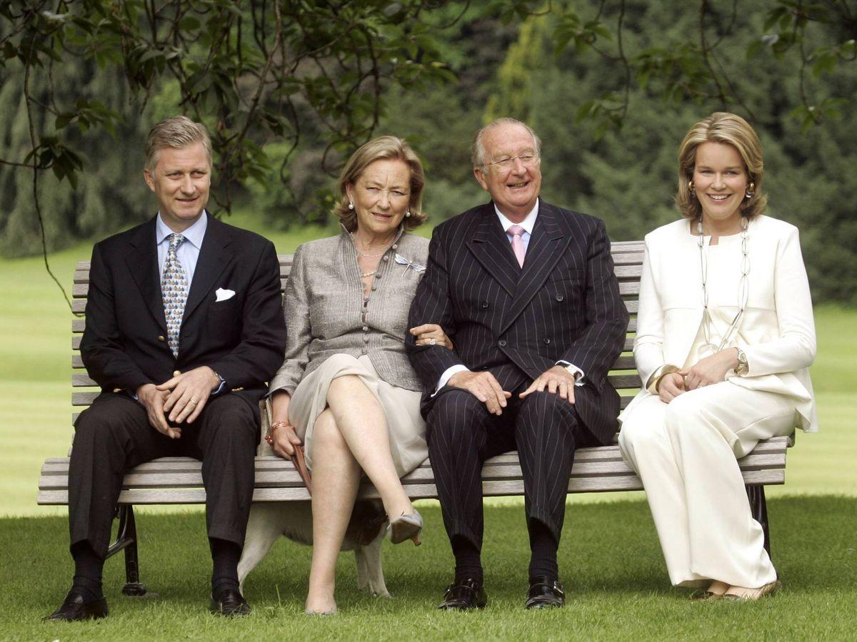 Foto: Felipe y Matilde de Bélgica, con los reyes Alberto y Paola. (Getty)