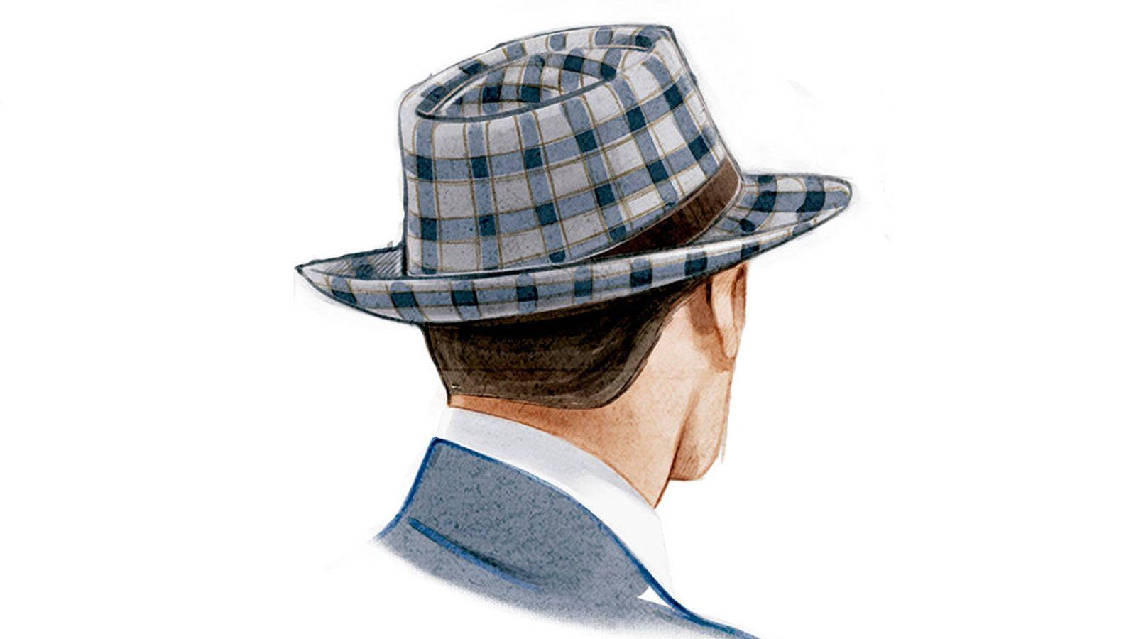 Contemporáneo Modelo Que Hace Punto Para El Sombrero Gacho Cresta ...
