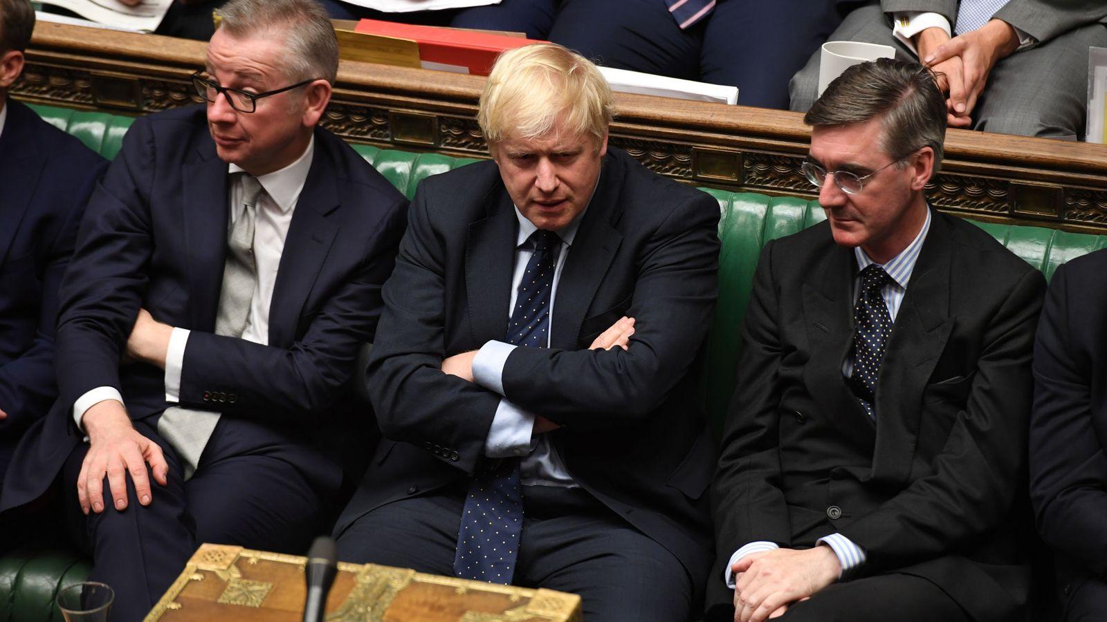 Foto: Boris Johnson, en el Parlamento.