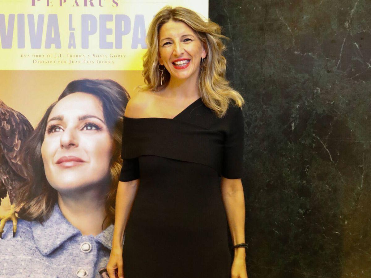 Foto: Yolanda Díaz, en el estreno de 'Viva la Pepa! (Gtres)