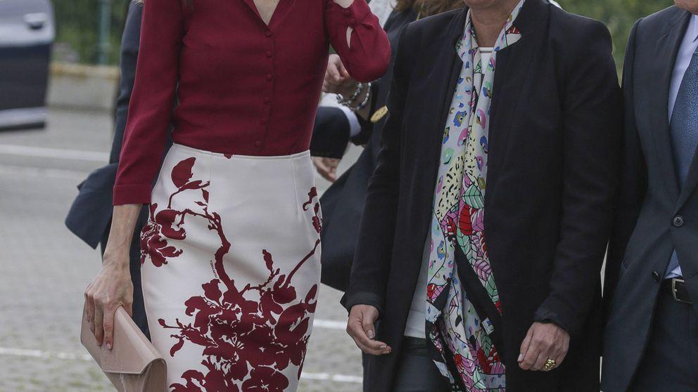 El encuentro de Letizia con Uxue Barkos, la mujer que desató la ira de su excuñado