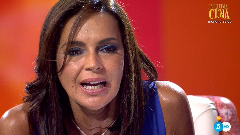 Olga Moreno, en otro momento de 'Ahora, Olga'. (Mediaset)