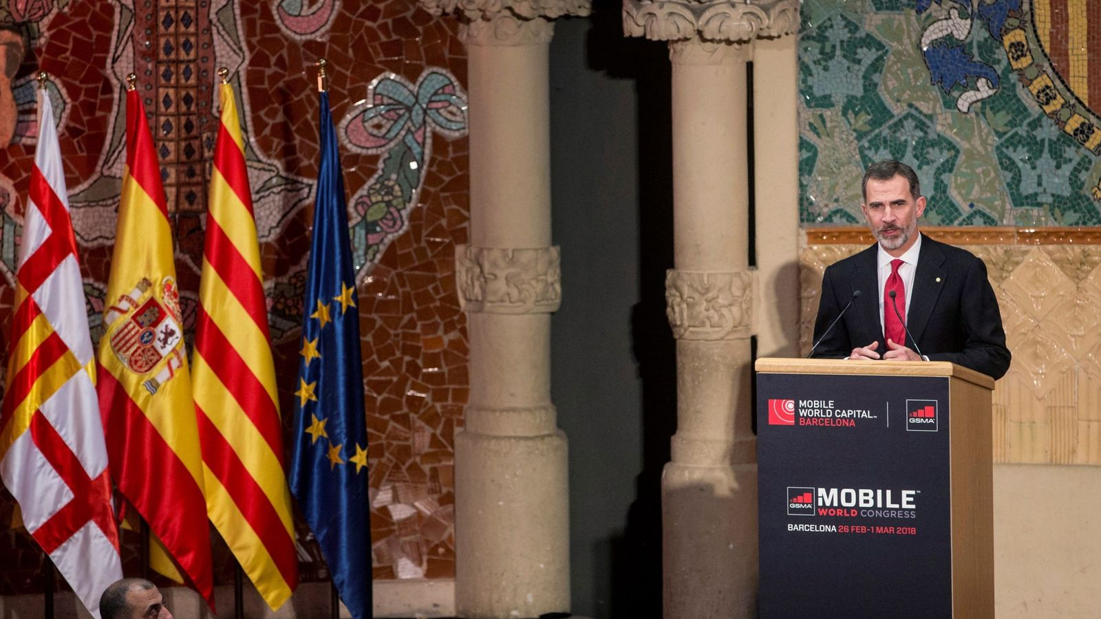 Foto: Felipe VI, en febrero de este año, en Barcelona en el Mobile World Congress. (EFE)